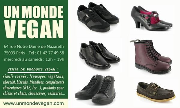 chaussures un monde vegan