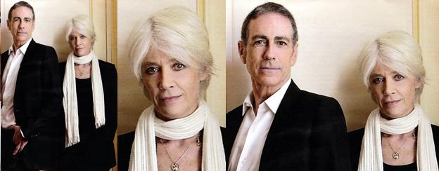 Françoise Hardy et Alain Chamfort