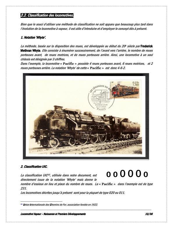 Classification des locomotives