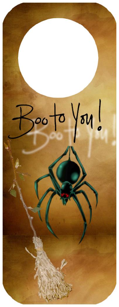 pancarte de porte halloween à imprimer