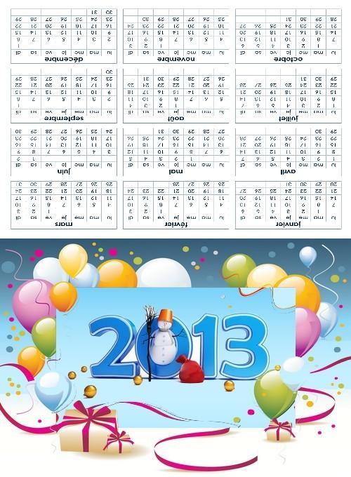 calendrier gratuit 2013