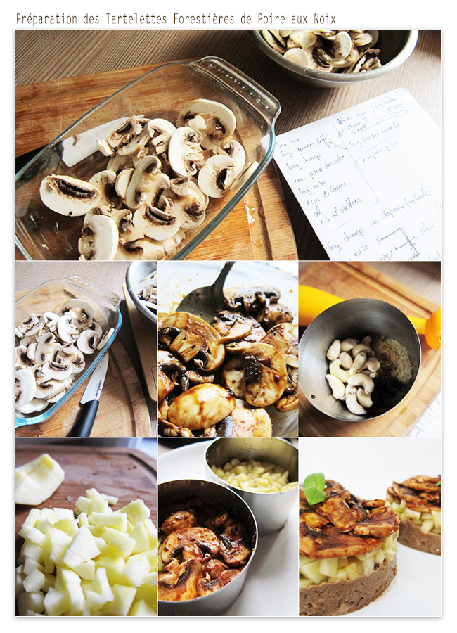 cooking test Tartelettes Forestières de Poire aux Noix