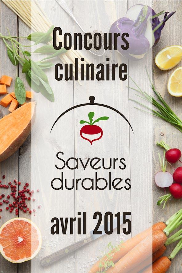 Saveurs Durables : Concours 2015
