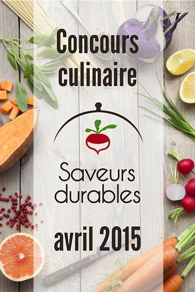 Concours saveurs durables 2015