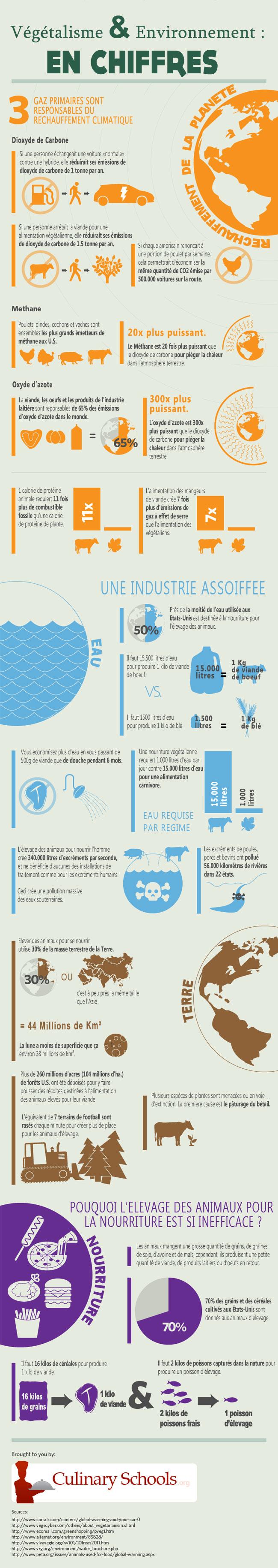 Végétalisme et environnement en chiffres
