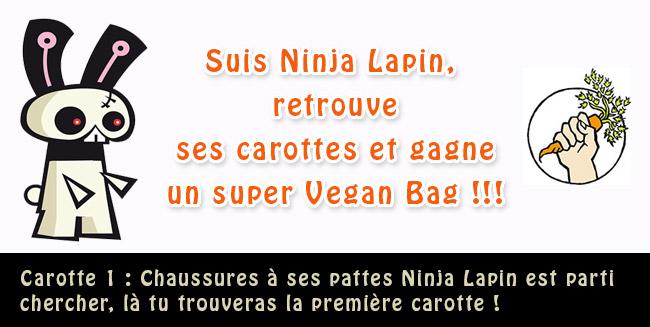 Les Carottes de Ninja Lapin : Un Sac Vegan à gagner