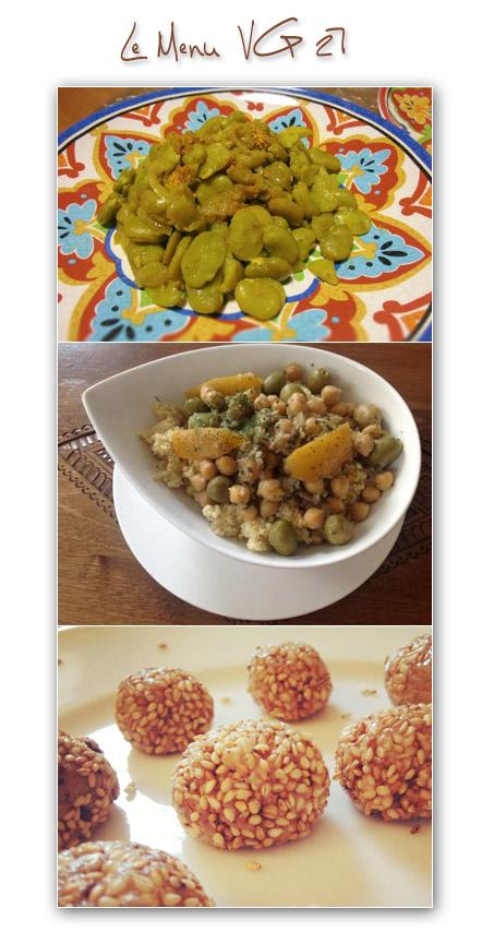 menu vegetalien vegan