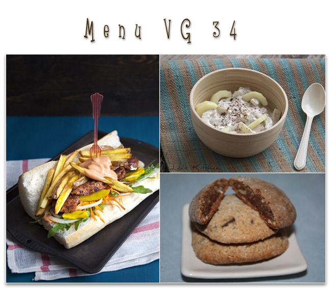 menu vegetalien vegan