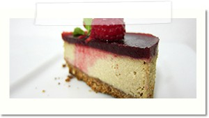 cheesecake framboise vegan