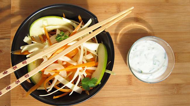 salade fraîcheur et sa sauce coco