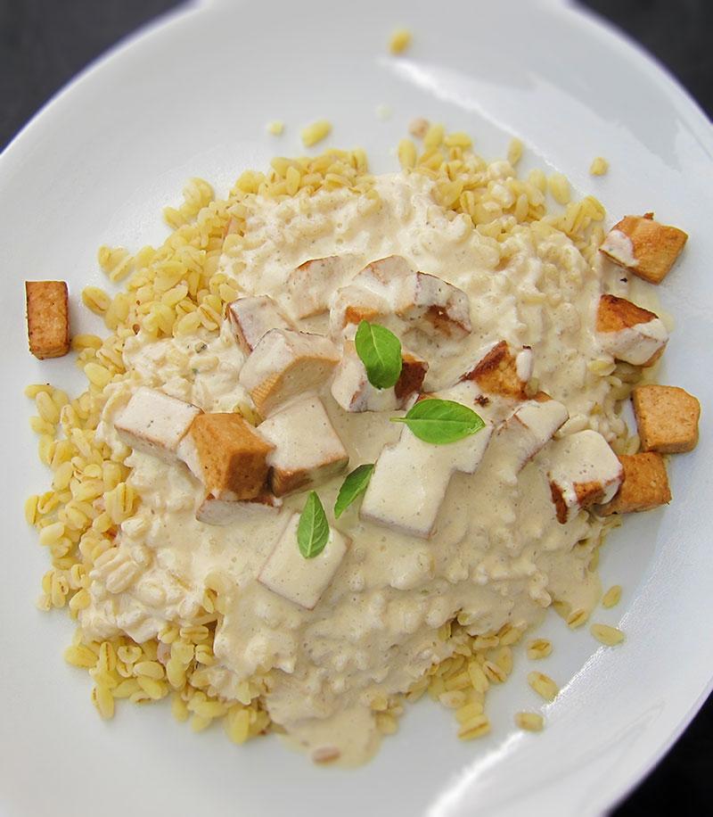 Tofu sauce moutarde