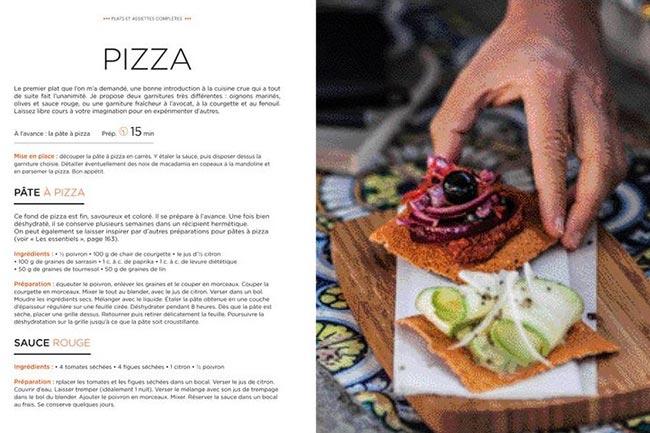 Le Grand livre de la Cuisine Crue de Christophe Berg pizza