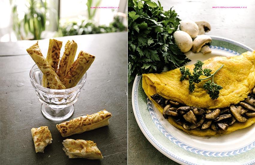 Allumette au fromage végétal | Omelette végétale aux champignons