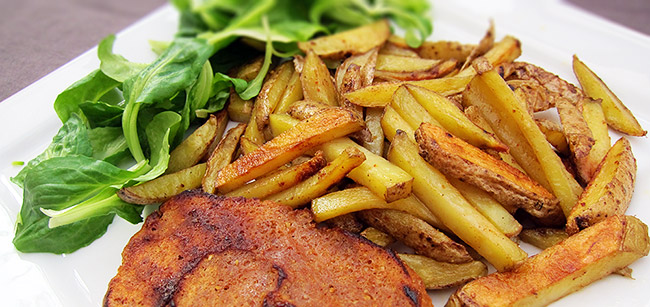 Steaks de seitan et potatoes rustiques