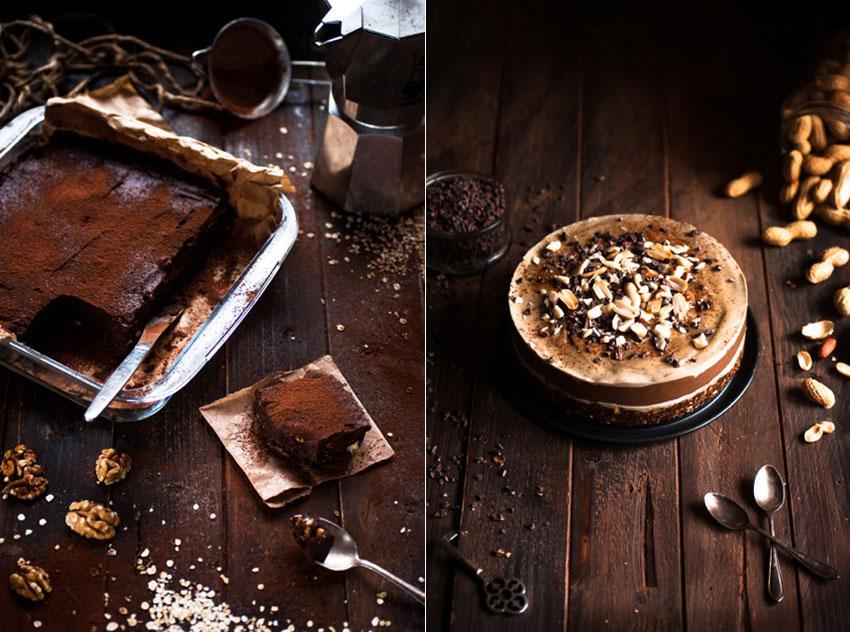 Brownie aux dattes et au sarrasin & Fondant caroube cacahuètes