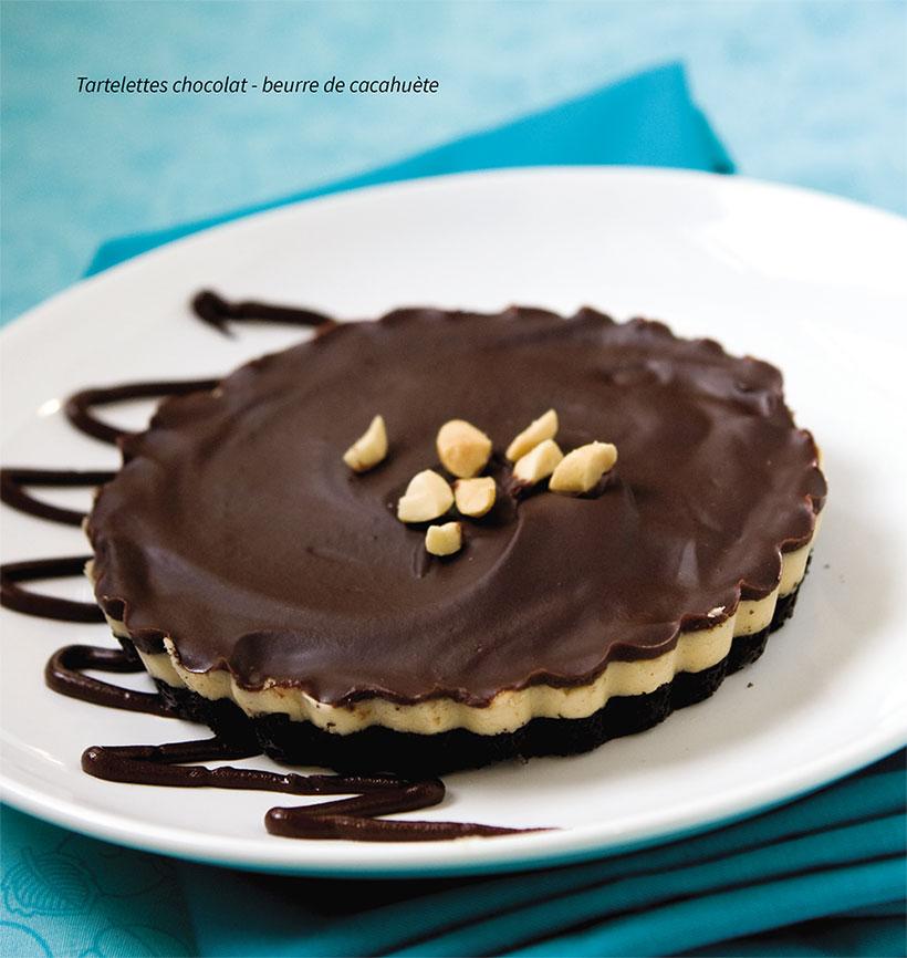 tartelettes chocolat - beurre de cacahuète vegan