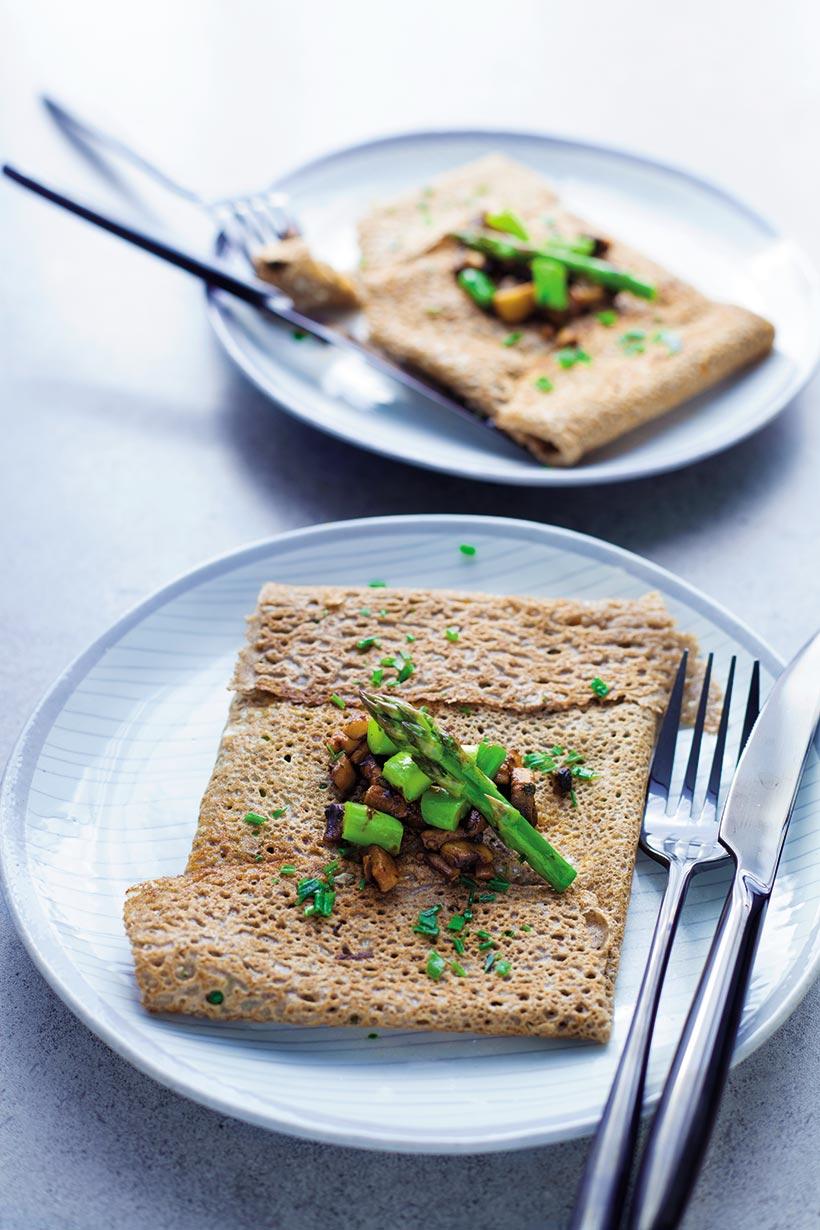 Galettes de sarrasin vegan vegetaliennes