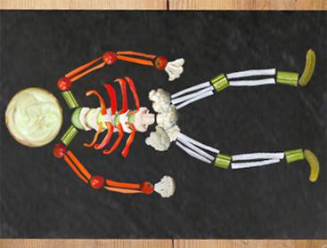 dip squelette Halloween aperitif vegan vegetalien