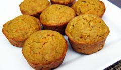 Carrot Muffins aux noisettes et cumin
