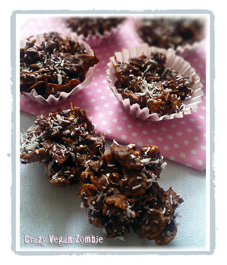 Bouchées croustillantes chocolat & noix de coco (sans gluten)