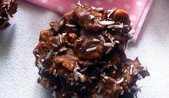 Bouchées croustillantes chocolat noix de coco sans gluten