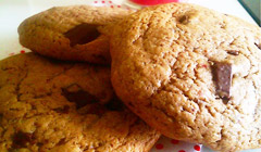 Cookies aux fraises et aux pépites de chocolat