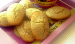 Madeleines Citron & Pavot (sans gluten)