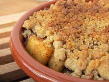 crumble vegetalien vegan huile d'olive pommes cannelle