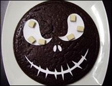 Gâteau éthéré de Jack halloween vegan vegetalien chocolat