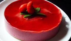 Bavarois miroir aux fraises