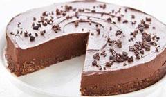 Gâteau au chocolat cru