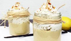Crème citron chantilly coco