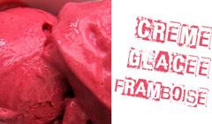 Crème glacée framboise végane