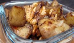 Pommes et poires caramélisées à la cannelle
