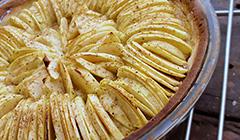 Tarte aux pommes sablée amande