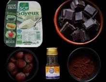 Mousse au chocolat vegan vegetalien