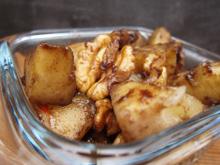 Poêlée de pommes et poires caramélisées cannelle