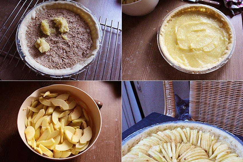 Tarte aux pommes sablée amande vegan