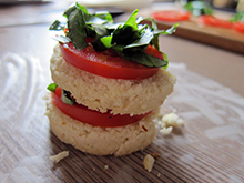 aumônières menu noël tomates basilic amande vegan vegetalien