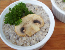 Terrine de champignons au vin blanc entree noel vegan vegetalien