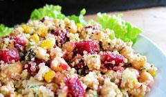 Salade de Quinoa aux pois chiches et aux betteraves