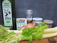 entrée Velouté de céleri au curry vegan vegetalien