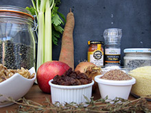 terrine de lentilles aux noix et aux pommes menu noel vegan vegetalien