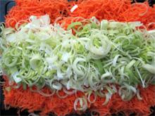 poireaux carottes râpées vegan