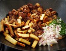 Poêlée de champignons et marrons vegan vegetalien
