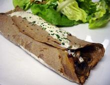 Galettes de blé noir aux champignons vegan vegetalien