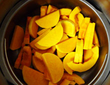 Gratin de potiron halloween vegan vegetalien
