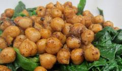 Épinards et pois chiches aux épices