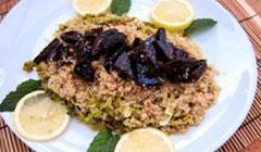 Quinoa au chou vert et tofu sauce poivre citron
