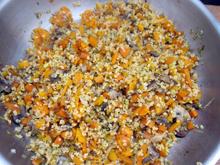 potimarron farci champignons poireau carottes halloween vegan vegetalien